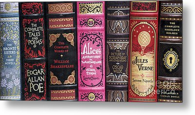 Classic English Literature Books Metal Print
