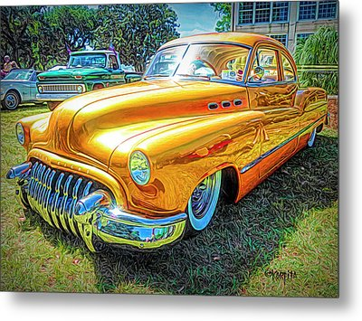 Classic Fifties Buick - Cruising The Coast Metal Print