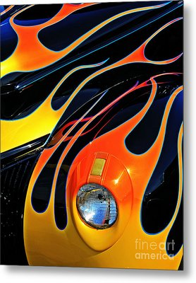 Classic Flames Metal Print by Perry Webster