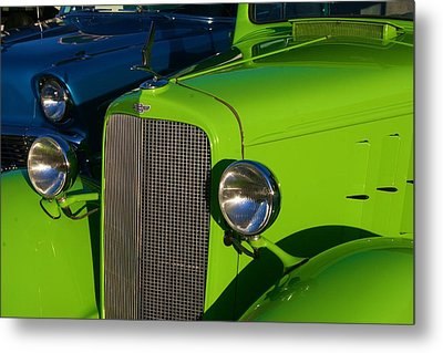 Metal Print featuring the photograph Classic Lime Green Car by Polly Castor