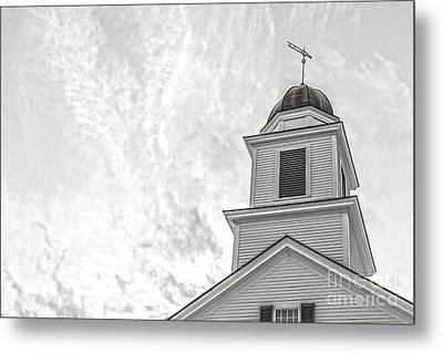 Metal Print featuring the photograph Classic New England Church Etna New Hampshire by Edward Fielding