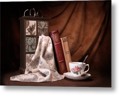 Classic Reads Still Life Metal Print by Tom Mc Nemar