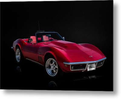 Classic Red Corvette Metal Print