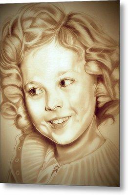 Classic Shirley Temple Metal Print