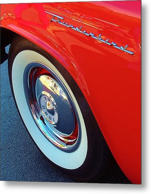 Classic T-bird Tire Metal Print
