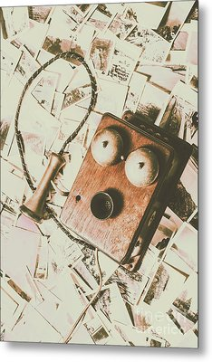Classic Vintage Wooden Telephone Metal Print by Jorgo Photography - Wall Art Gallery