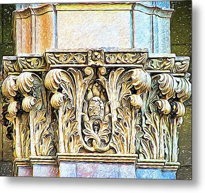 Metal Print featuring the digital art Classic by Wendy J St Christopher