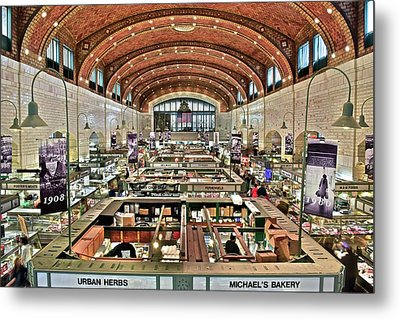 Classic Westside Market Metal Print by Frozen in Time Fine Art Photography