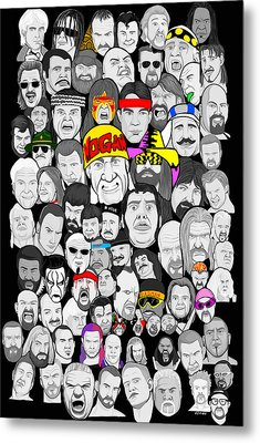Classic Wrestling Superstars Metal Print by Gary Niles