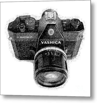 Classic Yashica Slr Film Camera Metal Print by Edward Fielding