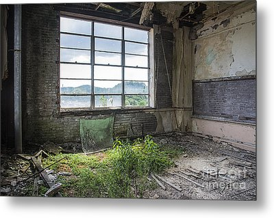 Metal Print featuring the mixed media Classroom Garden by Terry Rowe