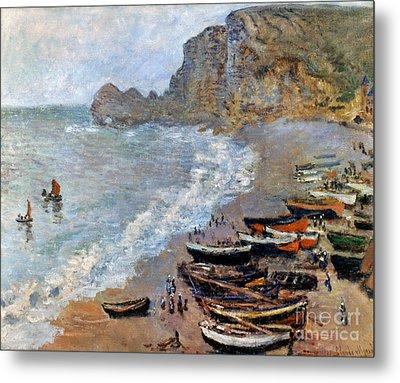Claude Monet: Etretat, 1883 Metal Print by Granger