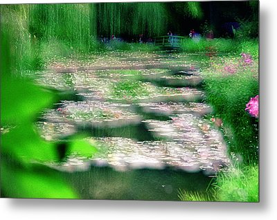 Metal Print featuring the photograph Claude Monets Water Garden Giverny 1 by Dubi Roman