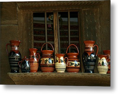 Clay Jugs  Metal Print by Emanuel Tanjala