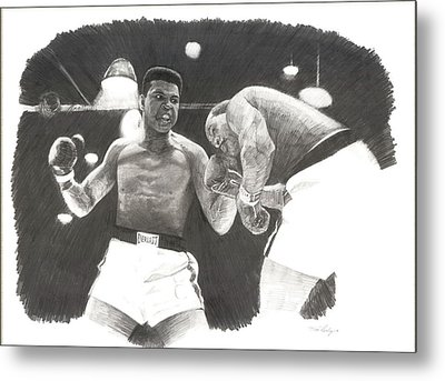 Clay Vs Liston 1 Metal Print