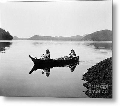 Clayoquot Canoe, C1910 Metal Print by Granger