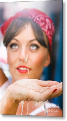 Cleaner With Water Metal Print by Jorgo Photography - Wall Art Gallery