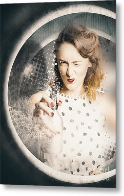Cleaning Lady Killing Dirt And Grime Metal Print by Jorgo Photography - Wall Art Gallery