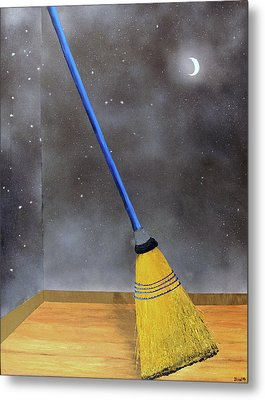Metal Print featuring the painting Cleaning Out The Universe by Thomas Blood