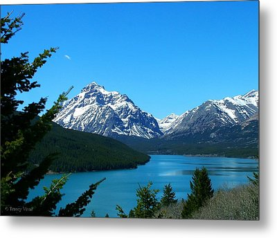 Clear Blue Lower Two Med Lake Metal Print