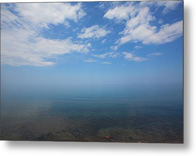 Metal Print featuring the photograph Clear Blue Waters With Clouds, Lake Superior by Jane Melgaard