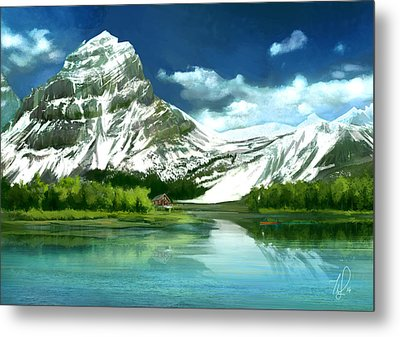 Clear Lake And Mountains Metal Print by Thubakabra