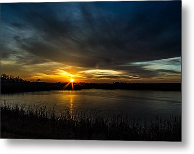 Clear Lake Sunset Metal Print by AllScapes Photography