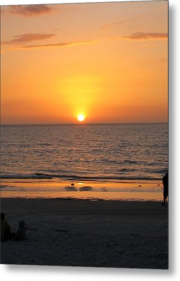 Clear Sunset Metal Print