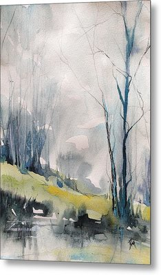 Clearing By The Riverbank Metal Print