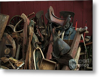 Clearing Out The Barn Study 1 Metal Print by Georgia Sheron