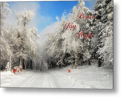 Clearing Skies Christmas Card Metal Print by Lois Bryan