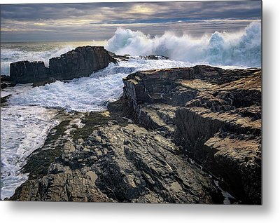 Metal Print featuring the photograph Clearing Storm At Bald Head Cliff by Rick Berk