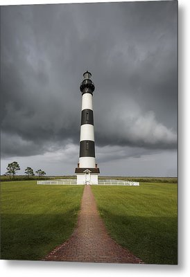 Clearing Storm At The Lighthouse Metal Print by Eduard Moldoveanu