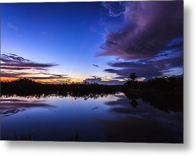 Clearing Storm Over The Anhinga Trail Metal Print by Jonathan Gewirtz