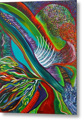 Metal Print featuring the painting Cleaving by Polly Castor