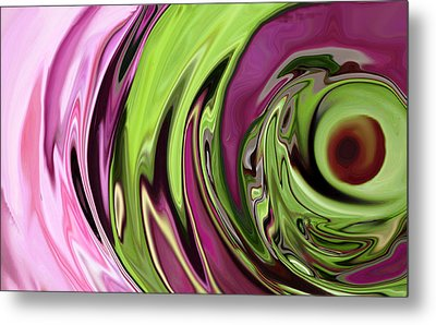 Clematis Eye Metal Print by Linnea Tober