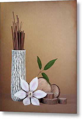 Clematis Flower Still Life Metal Print by Tom Mc Nemar