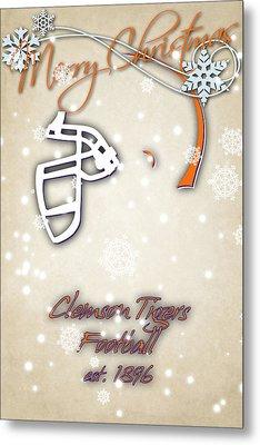 Clemson Tigers Christmas Card 2 Metal Print by Joe Hamilton