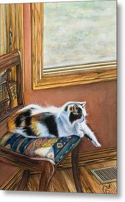 Cleo In The Sun Metal Print by Laurie Tietjen
