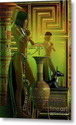 Cleo Reflections Metal Print by Shadowlea Is