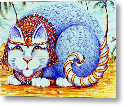 Metal Print featuring the drawing Cleocatra by Dee Davis