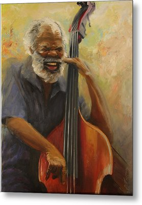 Cleve Playing The Jazz Metal Print by Jill Holt