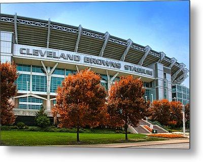 Cleveland Browns Stadium Metal Print by Kenneth Krolikowski