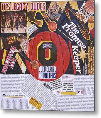 Metal Print featuring the painting Cleveland Cavaliers 2016 Champs by Colleen Taylor
