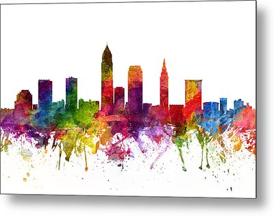 Cleveland Cityscape 06 Metal Print by Aged Pixel