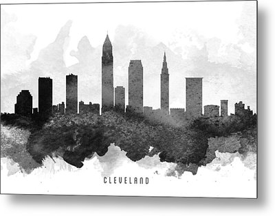 Cleveland Cityscape 11 Metal Print by Aged Pixel