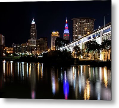 Metal Print featuring the photograph Cleveland In The World Series 2016 by Dale Kincaid