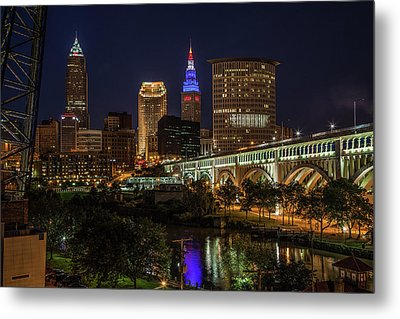 Cleveland Nightscape Metal Print