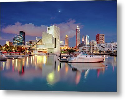 Metal Print featuring the photograph Cleveland Ohio 2  by Emmanuel Panagiotakis