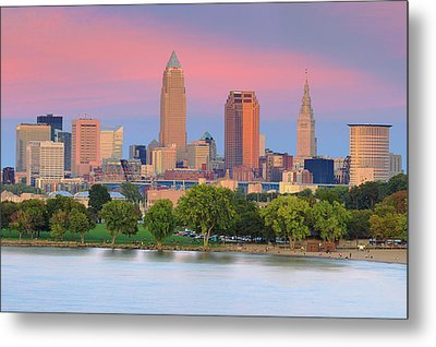 Metal Print featuring the photograph Cleveland Skyline 6 by Emmanuel Panagiotakis